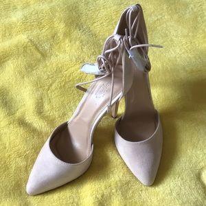 Charlotte Russe Carla Nude Wrap Heels
